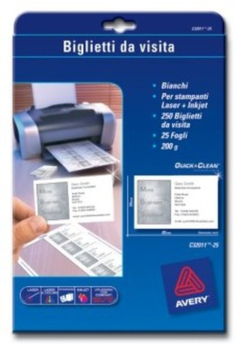 200 g/qm, weiß AVERY Zweckform C32011-25