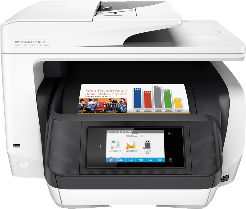 Appareil Multi-fonctions HP Officejet Pro 8720